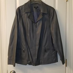 Gray Non-Leather Jacket